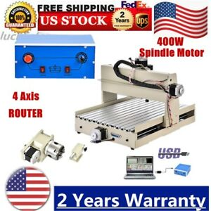 4 Axis Usb 3040 Router Engraver Engraving Machine 3d Carving Desktop 400w