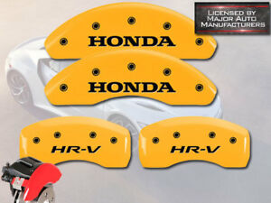 2016 2018 honda Hr v Hrv Front Rear Yellow Mgp Brake Disc Caliper Covers 4pc