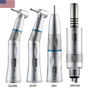 Being Dental Low Speed Contra Angle Fiber Optic Straight Handpiece Air Motor 202