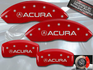 1999 2004 Acura Rl Front Rear Red Engraved Mgp Brake Disc Caliper Covers