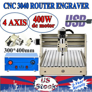 Usb 4axis Cnc 3040t Router Engraver Milling Engraving Machine Cutter 400w Great