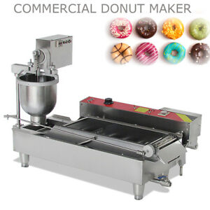 Commercial Electric Automatic Doughnut Donut Machine Maker Fryer 3mold 7l Hopper