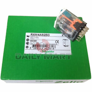 10pcs X New Schneider Rxm4ab2bd General Purpose Power Relay 24vdc 4pdt Zelio Rxm