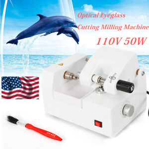 Eyeglass Lens Cutter Cutting Milling Grinding Automatic Optical Machine 110v