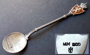 Collecting Spoons Memory Coat Of Arms Spoon Norway Marius Hammer 900 Silver