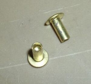 1 4 Pounds Semi Tubular Brass Rivets 3 16 shaft X 5 16 grip Range