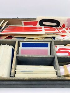 Vintage Changeable Plastic Letters Outdoor Marquee Portable Reader Board Signs