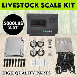 5000lbs Livestock Scale Kit For Animal Stainless Steel Agriculture Waterproof