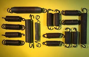 Vintage Rusty Springs Steampunk Coil Lot Mixed Media Industrial Art Salvage Rust