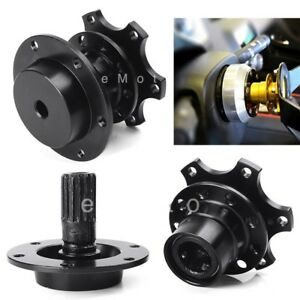 Black Steering Wheel Quick Release Detachable Adapter Hub Subaru Mazda