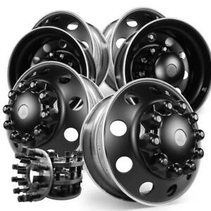 1994 To Current Dodge Ram 3500 8 To 10 Lug Adapter 22 5 Dura Black Kit