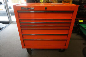 Snap On 7 Drawer Electric Orange Rolling Tool Cab Box 40 Local Pickup Only