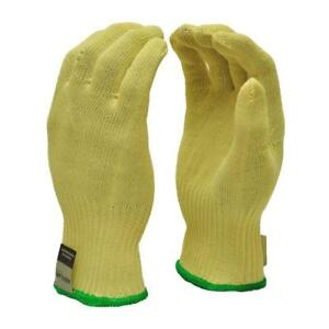 Dupont Cut Resistant Kevlar X large Industrial Gloves 12 Pairs Yellow loc 121