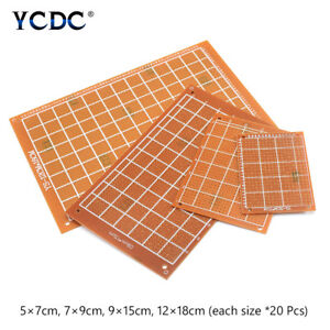 Prototype Pcb Printed Circuit Board For Electronic Diy 80pcs 4 Sizes Mixture 3b