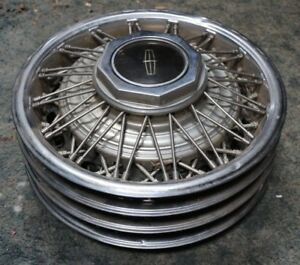1980 To 1990 Lincoln Town Car Wire Spoke 15 Wheels Hubcaps Wheel Covers