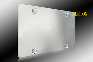 Plain Stainless Steel Heavy Metal Mirror Chrome License Plate Fits Toyota Mazda