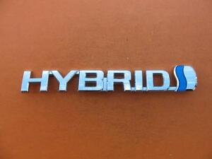 10 11 12 13 14 15 Toyota Prius Hybrid Left Fender Chrome Emblem Logo Badge 6