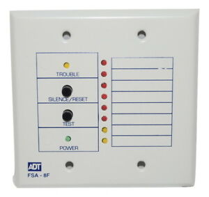 New Honeywell Ademco Fsa 8f 8 zone Led Fire System Annunciator With Sounder