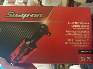 Snap On 14 4 V 3 8 Drive Microlithium Cordless Ratchet Ctr761cdb Tool Only