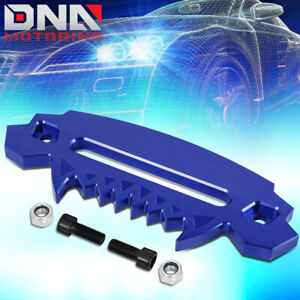 10 Aluminum Devil Skull Hawse Fairlead For Synthetic Winch Rope Guide 4x4 Blue