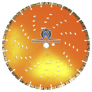 14 Concrete Diamond Blade W Cooling Holes Faster Cut Longer Life Wet dry Cut