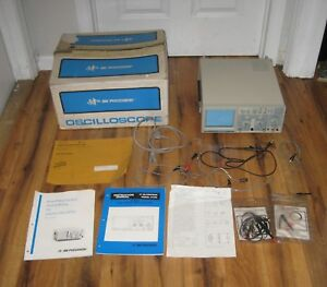 Bk Precision 2120 Dual Trace 20mhz Analog Oscilloscope Box Probes Manual Nice