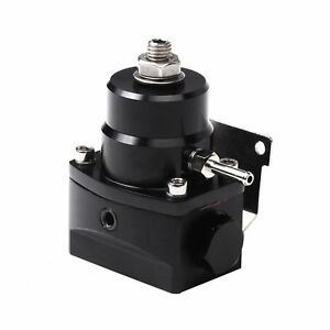 Black Adjustable Injected Bypass Fuel Pressure Regulator 0 100 Psi An6 Universal