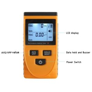 Lcd Electromagnetic Radiation Detector Meter Dosimeter Tester For Electric Field