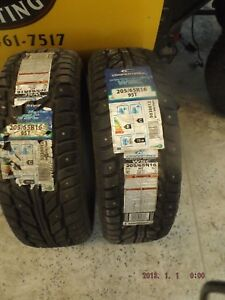 2 Cooper Studded Winter Tires 205 65 16 Brand New