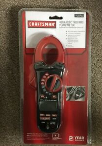 Craftsman 400a Ac dc True Rms Clamp Meter Test Leads 9v Battery With Case Tool