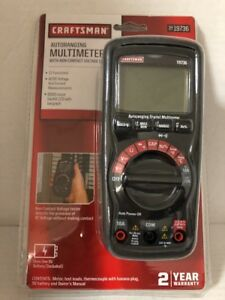 Craftsman Multimeter With Ncv Tester Leads Probes 9v Battery Heavy Duty Measures
