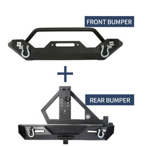 For 97 06 Jeep Wrangler Tj Front Rear Bumper W 4x 18w Spotlight