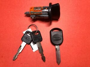 New Ford Explorer Ranger Taurus Ignition Lock Cylinder Switch Transponder Keys