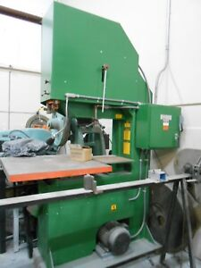 vertical Band Saw 36 Little Used Industrial Us Made Aluminum wood plastic