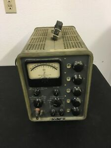 Vtg Rare John Fluke Model 803d Ac dc Differential Voltmeter Original Manual
