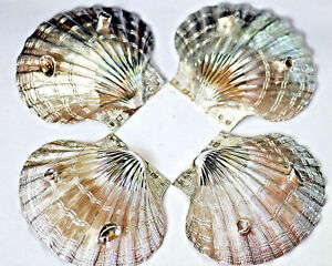 Large Sterling Silver Exquisitely Modeled Sea Scallop Seashell Cj Vander 6 Oz