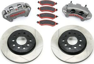 Teraflex Front Big Brake Kit Jeep Jk Wrangler 07 18 4303420 Slotted Rotors