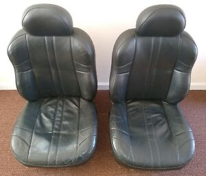 99 04 Jeep Grand Cherokee Limited Black Heated Rh Lh Fr Leather Seat Covers