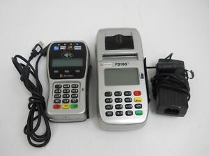First Data Fd100ti Credit Card Terminal W Fd 35 Pinpad