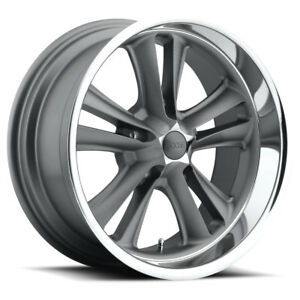 Foose Knuckle F099 17x7 1 Gunmetal W Machined Lip Wheel 5x114 3 5x4 5 Qty 1