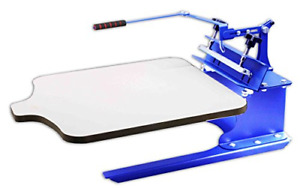 Intbuying 1 Color 1 Station Silk T shirt Screen Printing Machine Diy Fabric For