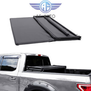 Soft Tri Fold Truck Bed Tonneau Cover For Toyota Tacoma 2016 2019 5ft Short Bed