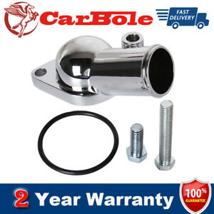 45 Degree Chrome Water Neck O Ring Thermostat Housing For Chevy V8 5 7l 350 454