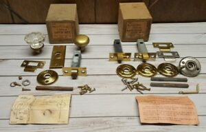 Vintage Brass Crystal Bathroom Door Knob Tubular Latch Lock Sets S