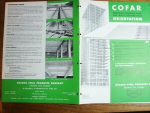 1953 Granco Steel Products Cofar Reinforced Concrete Floor Roof Building Catalog