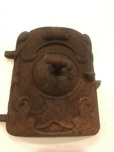 Vintage Cast Iron Wood Stove Furnace Door Approx 8 Tall X 7 Wide Steampunk