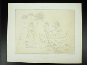 Jesus Appellant Stone And Andr Italy 14th Lagrillere Litho Xixth 1858 Hangard