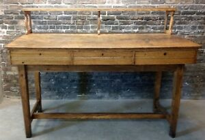 Antique Early 20th Century C1900 Oak Shipping Desk Industrial Decor Rare