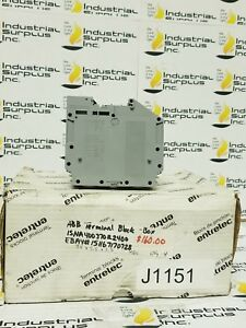 Abb Terminal Block Isna400370r2400 Conn Wire Mgmt 10 Pc