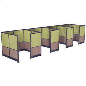 Enclosed Cubicle Walls Emerald Cubicle Collection 6x6x65 h 4 Pack